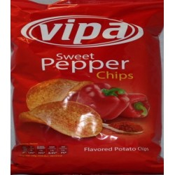 Vipa Salted Potato Sweet pepper Chips 140g